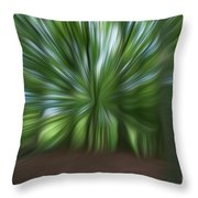 Haagse Bos. Oil Painting Effect. Throw Pillow