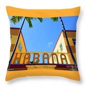 Habana Condos Throw Pillow