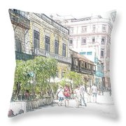 Habana Vieja Streets  Throw Pillow