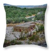 Hacienda In The Desert Throw Pillow