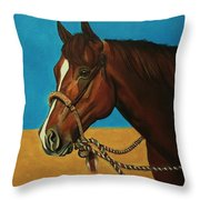 Hackamore Horse Throw Pillow