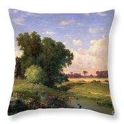 Hackensack Meadows - Sunset Throw Pillow