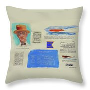 Hacker Boat Poster Throw Pillow