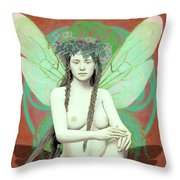 Hada Del Bosque Throw Pillow