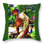 Haddonfield Hadrosaurus Foulkii Throw Pillow