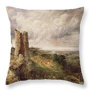 Hadleigh Castle Throw Pillow by John Constable
