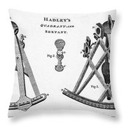 Hadleys Quadrant And Sextant, 1806 Throw Pillow