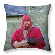 Hadrians Wall Guard Throw Pillow