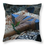 Hafted Hawaiian Adze Wailea Maui Hawaii Throw Pillow