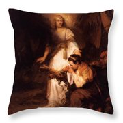 Hagar And The Angel 1645 Throw Pillow