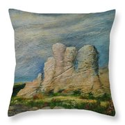 Hagar Qim Domination Throw Pillow