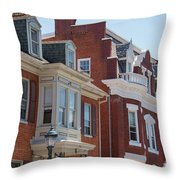 Hagerstown Cityscape Throw Pillow