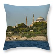 Hagia Sophia And Blue Mosque Throw Pillow