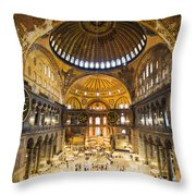 Hagia Sophia Interior Throw Pillow