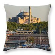 Hagia Sophia On The Bosphorus  Throw Pillow