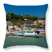 Hagnaya's Port And Fishing Village Throw Pillow