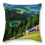 Hahnenkamm - Kitzbuehel Throw Pillow