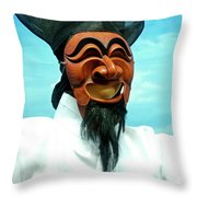 Hahoe Mask Throw Pillow