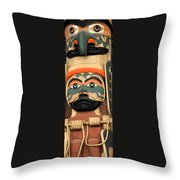 Haida Faces Throw Pillow