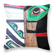 Haida One Throw Pillow