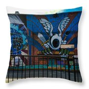 Haight Ashbury Mural Throw Pillow
