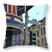 Haight-ashbury Throw Pillow