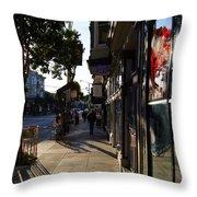Haight St. Near Ashbury, Sf Throw Pillow