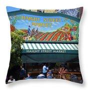 Haight Steet Market San Francisco Throw Pillow