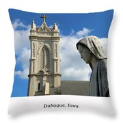 Hail Mary, Full Of Grace Throw Pillow