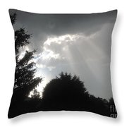 Hail Storm Clouds Throw Pillow