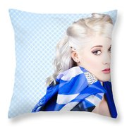 Hair And Beauty Fashion Portrait Throw Pillow