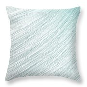 Hair Blowing Closeup Throw Pillow