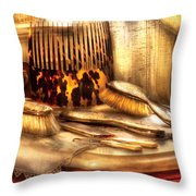 Hair Dresser - Implements  Of Hair Care  Throw Pillow