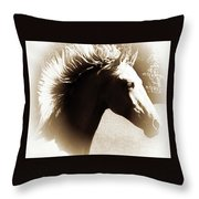 Hair Raising Throw Pillow