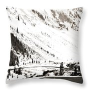 Hairpin Turn Throw Pillow