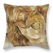 Hairx Throw Pillow