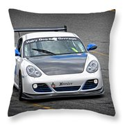Hairy Dog Garrrage - Porsche - Pit Lane Throw Pillow