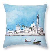 Haji Ali Mumbai Throw Pillow