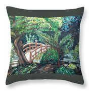 Hakone Garden Throw Pillow