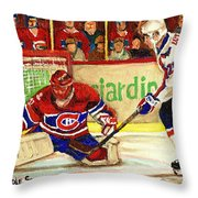 Halak Makes Another Save Throw Pillow by Carole Spandau