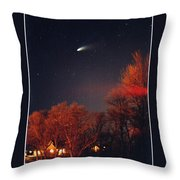 Hale-bopp Comet Throw Pillow