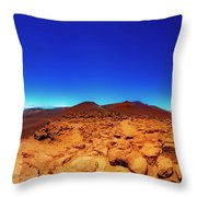 Haleakala  East Maui Volcano Throw Pillow