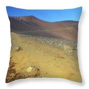 Haleakala Sliding Sands Trail In Volcano Throw Pillow