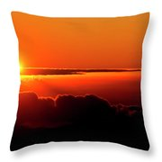Maui Hawaii Haleakala National Park Sunrise IIi Throw Pillow