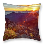 Haleakala Sunrise Throw Pillow