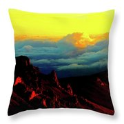 Halekala Sunrise Throw Pillow