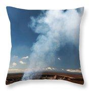 Halemaumau Crater 2016 Throw Pillow