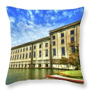 Hales Bar Dam Tennessee Valley Authority Tennessee River Art Throw Pillow