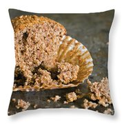 Half A Muffin Throw Pillow