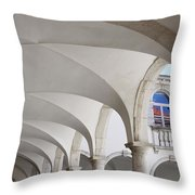 Half Arched Portal Of The Minorite Monastery Cloister Attached T Throw Pillow